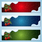 Christmas and New Year vector banners Royalty Free Stock Images