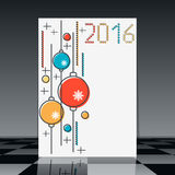 Christmas and New Year vector flyer Stock Photography