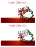 Christmas and New Year Vector greeting card Stock Image