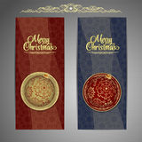 Christmas and New Year  Vector greeting card Royalty Free Stock Photography