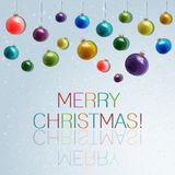 Christmas and New Year. Vector greeting card Stock Photo