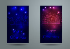 Christmas and New Year Vector greeting card Stock Photography