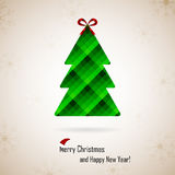Christmas and New Year. Vector greeting card Stock Photography