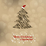 Christmas and New Year. Vector greeting card Stock Image