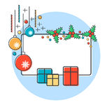 Christmas and New Year vector illustration Royalty Free Stock Photos