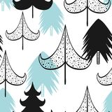 Christmas and new year vector seamless patterns. Cartoon Vector Illustration