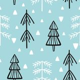 Christmas and new year vector seamless patterns. Cartoon stock illustration