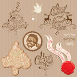 Christmas and New Year vintage decoration collecti Royalty Free Stock Photos