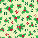Christmas and New Year vintage seamless pattern with holiday symbols Stock Images