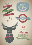 Christmas & New Year Vintage Set Royalty Free Stock Photos