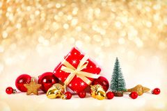Christmas and New Year winter holiday season concept stock image
