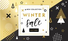 Christmas, new year, winter poste Royalty Free Stock Images