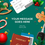 Christmas and New Year, winter vacations, holidays Stock Photo