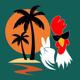 Christmas and New Year 2017, winter vacations and holidays. Vector. Christmas and New Year 2017, winter vacations and holidays. Rooster - Chinese New Year 2017 Stock Photography