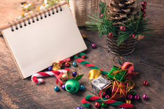 Christmas and new year wooden background banner Stock Photo