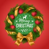 Christmas and New Year wreath Stock Photos