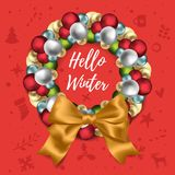 Christmas and New Year wreath Royalty Free Stock Photography