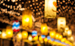 Christmas and New Year's celebrations,  decorated with lights. Stock Image