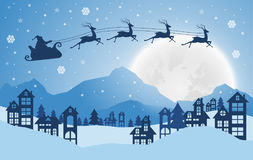 Christmas and New Years background with Santa claus on urban.. Christmas and New Years background with Santa claus on urban.vector Royalty Free Stock Photo