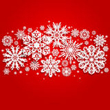 Christmas and New Years background with snowflakes Royalty Free Stock Photos