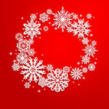 Christmas and New Years background with snowflakes Royalty Free Stock Photography