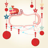 Christmas and New Years Card Royalty Free Stock Image