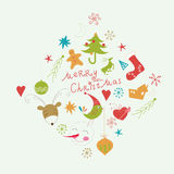 Christmas and New Years elements Stock Images