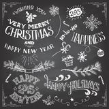 Christmas and New Years elements set Royalty Free Stock Photography
