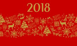 Christmas and New Years elements with text. Stock Photography
