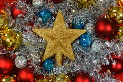 Christmas and New Years eve background. Holiday christmas, glitter background.Christmas is a holiday of joy, fun, hope royalty free stock photography