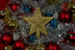 Christmas and New Years eve background. Holiday christmas, glitter background.Christmas is a holiday of joy, fun, hope stock photo