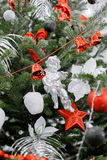 Christmas and New Years  flowers composition. Stock Photography
