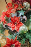 Christmas and New Years  flowers composition. Stock Image