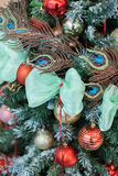 Christmas and New Years  flowers composition. Stock Images
