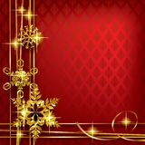 Christmas and New-Years greeting card Stock Image