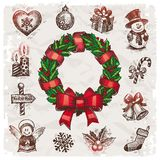 Christmas and New years holidays illustration Stock Image