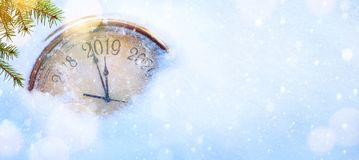 2019 Christmas and new years invitation banner background