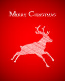 Christmas and New Years postcard Stock Images