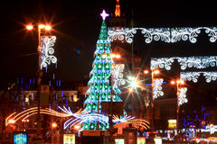 Christmas and New Years's 2013 in Kiev, the capital of Ukraine Stock Images