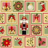 Christmas and New Years seamless pattern Stock Photos
