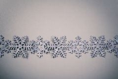 Christmas and New Years snowflake background Royalty Free Stock Photos