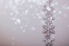 Christmas and New Years snowflake background Royalty Free Stock Photography