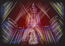 Christmas new york city. Abstract stylized illustration Royalty Free Stock Photo