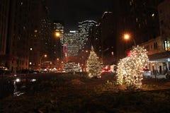 Christmas New York by night, USA. Christmas and New Year in New York by night, USA December 2015 royalty free stock image