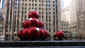 New York City at Christmastime stock video