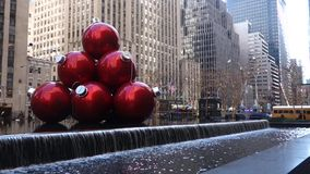 Christmas in New York City stock video footage