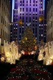 Christmas in new york - Rockefeller Center Christmas Tree. New York, USA - December 3, 2015: A shot of the 2015 Rockefeller Center Christmas Tree, with people stock photos