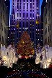 Christmas in new york - Rockefeller Center Christmas Tree Royalty Free Stock Photography