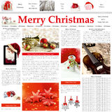 Christmas newspaper pattern Royalty Free Stock Photo