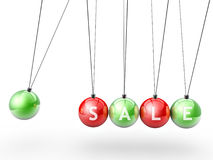 Christmas newton's cradle side view Stock Image